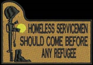 Homeless vets vs. Refugees mem